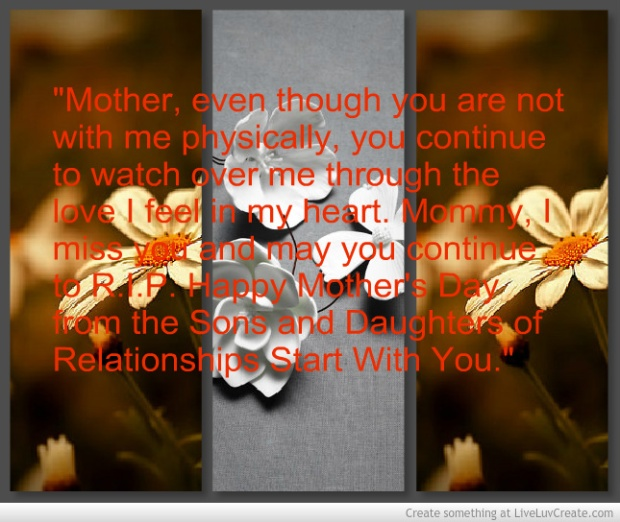 Tribute to Deceased Moms from RSWY
